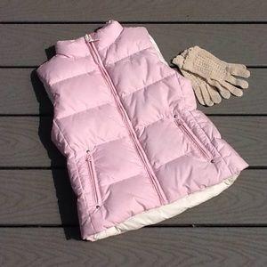 Ralph Lauren reversible quilted puffer logo vest